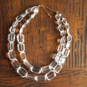 Clear Plastic Bead Necklace